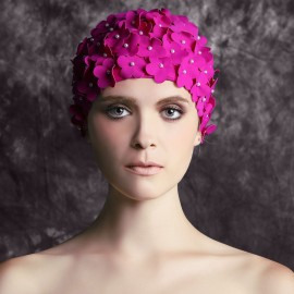 Balneaire Flowers Rose Swimming Cap (30053)