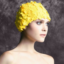 Balneaire Flowers Yellow Swimming Cap (30053)