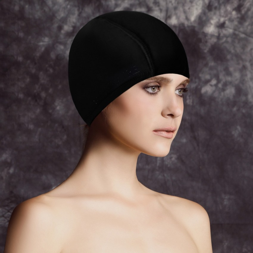 Balneaire Simple Elastic Black Swimming Cap (30055)