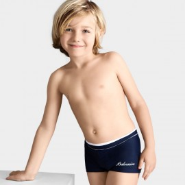 Balneaire Comfortable Elastic Boy Navy Shorts (250002)
