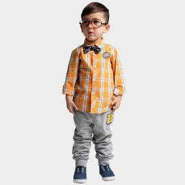 Bobdog Plaid Orange Shirt (B41SC651)
