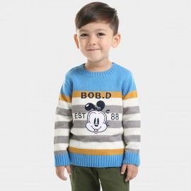 Bobdog Striped Blue Knit (B43BN822)
