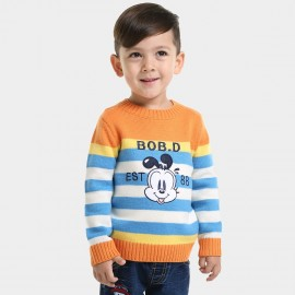 Bobdog Striped Orange Knit (B43BN822)