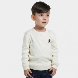 Bobdog Plain White Sweater (B43ZS905)