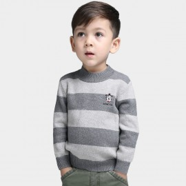 Bobdog Striped Grey Pullover (B43ZS909)