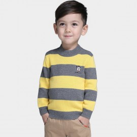 Bobdog Striped Yellow Pullover (B43ZS909)