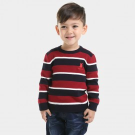 Bobdog Shadow Striped Red Pullover (B43ZS920)