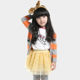 Bobdog Striped Orange Cardigan (B43ZS923)