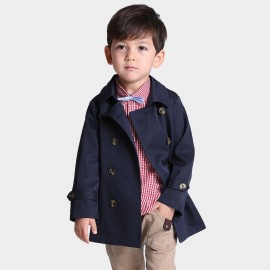 Bobdog Navy Trench Coat (B51SW601)