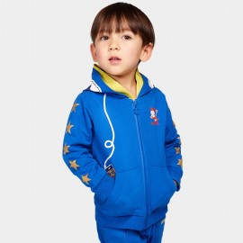 Bobdog Zip Through Blue Hoodie (B51ZW407)