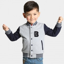 Bobdog Hooded Baseball Navy Jacket (B51ZW634)