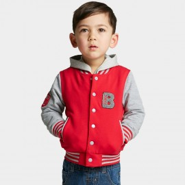 Bobdog Hooded Baseball Red Jacket (B51ZW634)