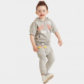 Bobdog Zip Through Hoodie Grey Set (B51ZZ461)