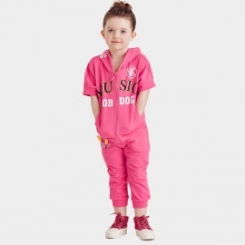 Bobdog Zip Through Hoodie Rose Set (B51ZZ461)