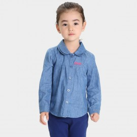 Bobdog Round Collar Blue Shirt (B53SC243)