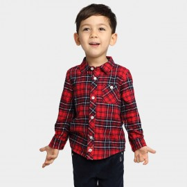 Bobdog Plaid Red Shirt (B53SC301)