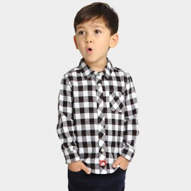 Bobdog Check White Shirt (B53SC301)