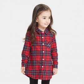 Bobdog Plaid Navy Shirt (B53SC305)
