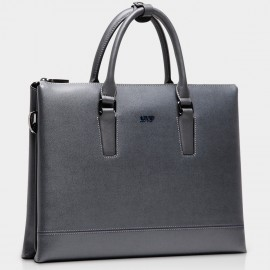 BVP Slim Grey Briefcase (T1006)