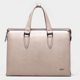 BVP Shiny Grey Briefcase (T1009)