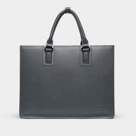 BVP Shiny Blue Grey Briefcase (T1011)