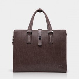 BVP Brown Briefcase with Clutch (T1012)