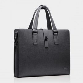 BVP Grey Briefcase with Clutch (T1012)