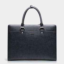 BVP Slim Black Grey Briefcase (T1018)