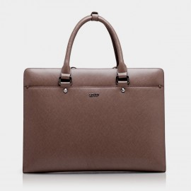 BVP Slim Brown Briefcase (T1018)