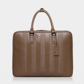 BVP Subtle Stripes Khaki Briefcase (T1022)