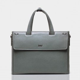 BVP Shiny Grey Briefcase (T1024)