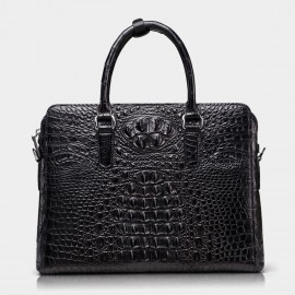 BVP Luxury Crocodile Black Briefcase (T1034)