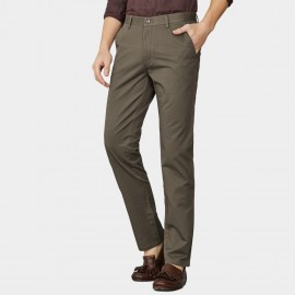 Ozhihe Basic Straight Tailored Khaki Trousers (QZH065-C)