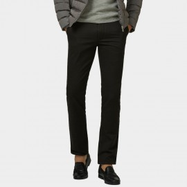 Ozhihe Basic Straight Tailored Fleece Lined Charcoal Trousers (QZH065-D)