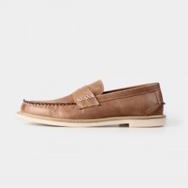 Herilios Suede Penny Brown Loafers (H3305D12)