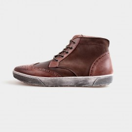 Herilios Grunge Ankle Brown Hi-Tops With Ash Soles (H4205G24)