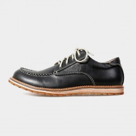 Herilios Street Chic Leather Black Lace-Up With Contrasting Stitches (H5105D12)