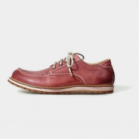 Herilios Street Chic Leather Red Lace-Up With Contrasting Stitches (H5105D12)