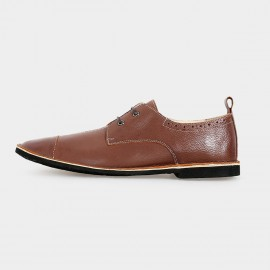 Herilios Elegant Low Ankle Brown Lace-Up (H5105D36)