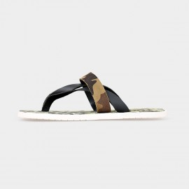 Herilios Camouflage Strapped Black Sandals (H5205L62)