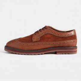 Herilios Suede Red Brown Casual Shoes With Leather Linings (H5305D57)
