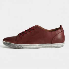 Herilios Passionate Street Chic Leather Red Casual Shoes With Ash Soles (H5305D59)