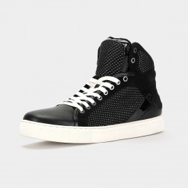 Herilios Comfy Super Fiber Dotted Black Hi-Tops (H5305G56)