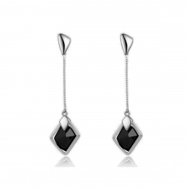 Caromay Dawn Even Long Silver Earrings (E0175-2)