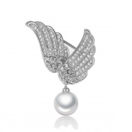 Caromay Fly Wing To Wing Silver Brooch (T0107)