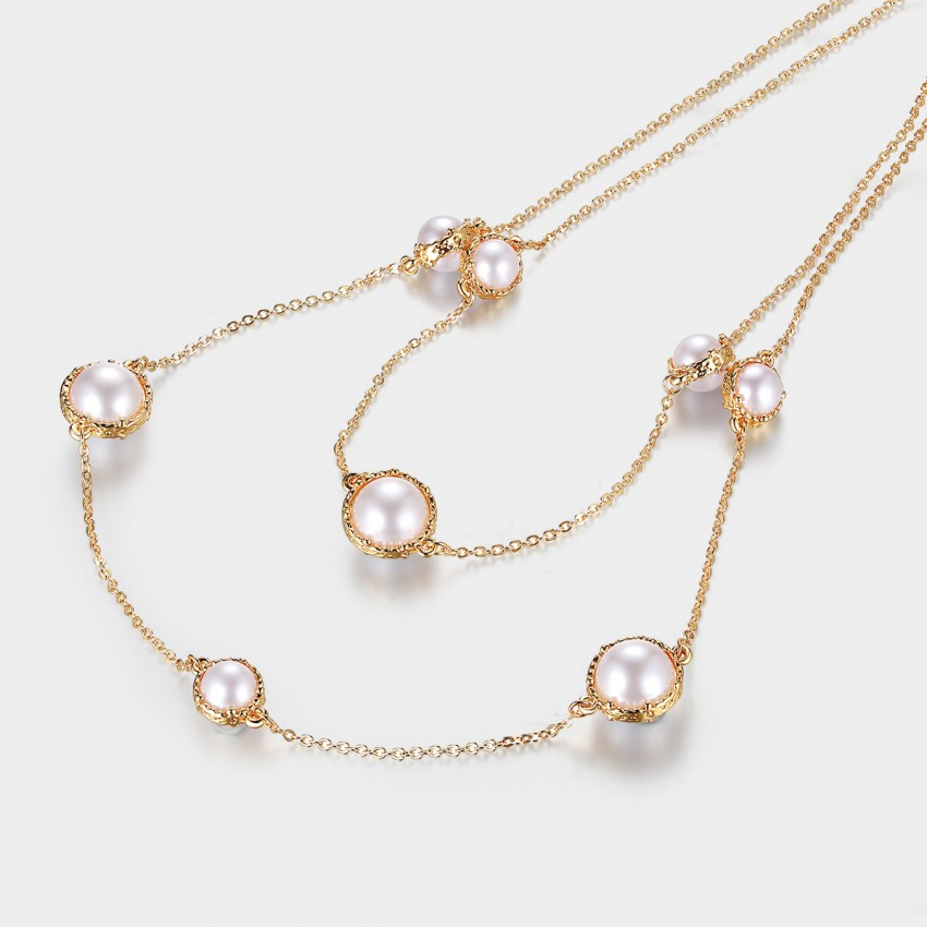 Caromay Passed Cloud Rose Gold Long Chain (X0530)