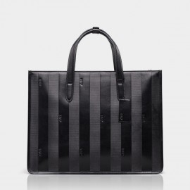BVP Subtle Stripes Black Briefcase (T1023 )