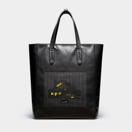 U.Life Yellow Buildings Black Tote (T3017U)