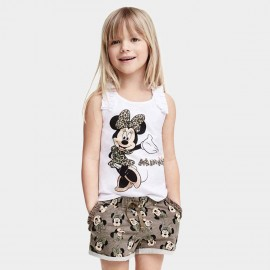 Yakuyiyi Sweet Minnie Mouse White Top (50604T075)