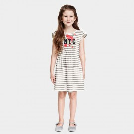 Yakuyiyi New York City Girl Stripe Dress (50611T076)